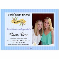 Personalized World's Best Friend Certificate