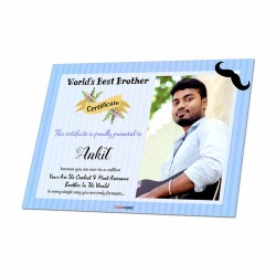 Personalized World's Best Brother Certificate