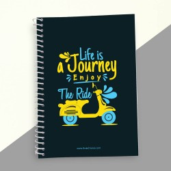 Life Is A Journey Enjoy The Ride Quotation Notebook