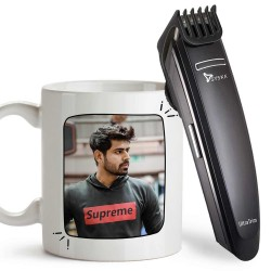 Personalized Best Brother Ever Mug With Syska Trimmer