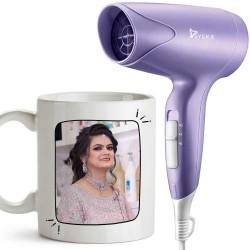 Personalized Best Sister Ever Mug With Syska Trendsetter Hair Dryer