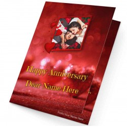 Personalized Anniversary Greeting Card
