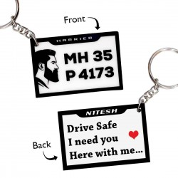 Customized Number Plate Keychain