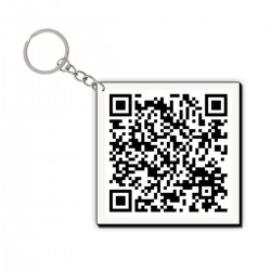 Customized QR Code Keychain