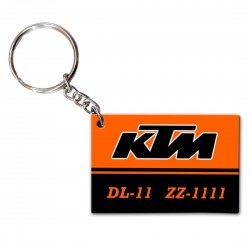 Customized KTM Number Plate Keychain