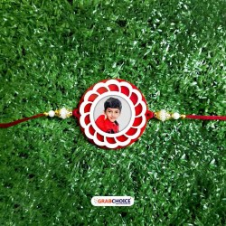 Personalized Rakhi with Roli Chawal